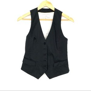 Black H&M's sleeveless fitted button vest size 6